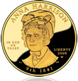 2009 Anna Harrison First Spouse Gold Coin
