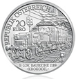 2009 Electric Railway 20 Euro Silver Coin