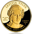 2009 Letitia Tyler First Spouse Gold Design