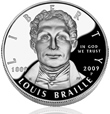 Proof Braille Silver Dollar
