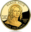 2009 Sarah Polk First Spouse Gold Coin
