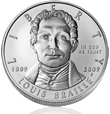 Uncirculated Braille Silver Dollar
