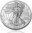 Uncirculated Silver American Eagle Coin