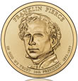 Franklin Pierce Presidential $1 Coin